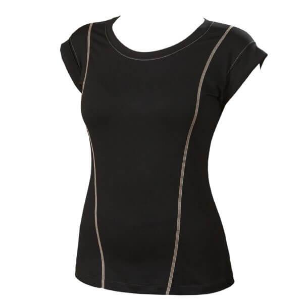 Женская футболка черная CLASSIC
