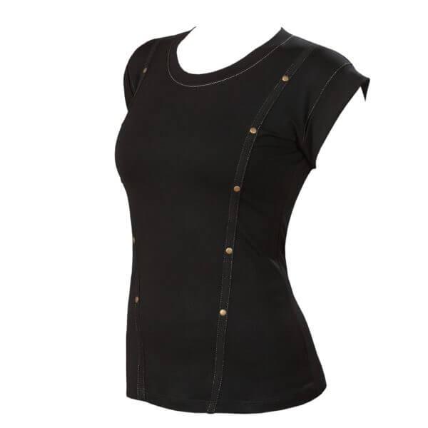 Женская футболка черная ANTIC