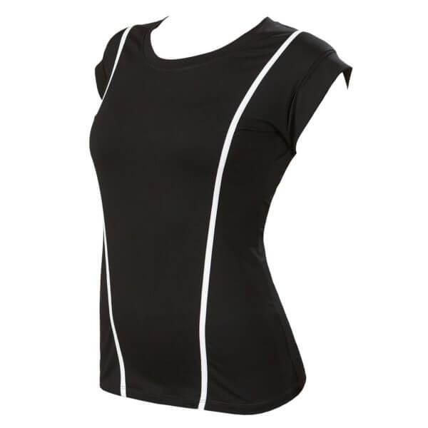 Женская футболка черная VIVA