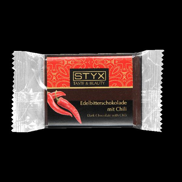 Горький шоколад STYX с чили перцем