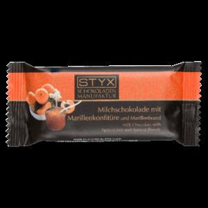 Молочный шоколад STYX с абрикосовым джемом